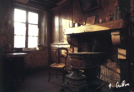 a typical Ardennais interior -- photo by Alain Grillon